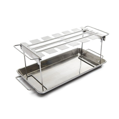 Broil King 64152 Stainless Steel Wing Rack with Drip Pan