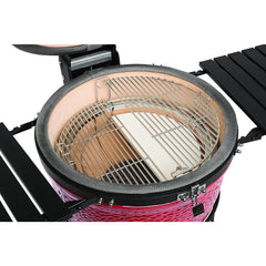 "Kamado Joe Classic II, 18"" Blaze Red On Cart"