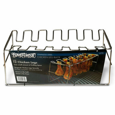 Bayou Classic  BC-0770 12 Leg Chicken Rack or holder for Grill or Oven - Bourlier's Barbecue and Fireplace