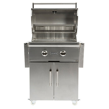 Coyote C-Series 28-Inch 2-Burner Freestanding Propane Gas Grill - CCX2-LPFS - Limited Stock - Bourlier's Barbecue and Fireplace