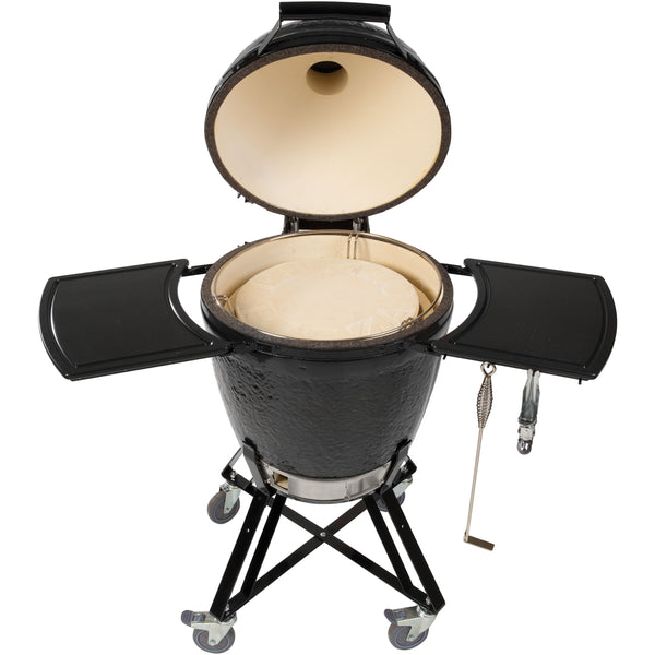 Primo All-In-One Ceramic Kamado Grill With Cradle & Side Shelves (773) - Bourlier's Barbecue and Fireplace