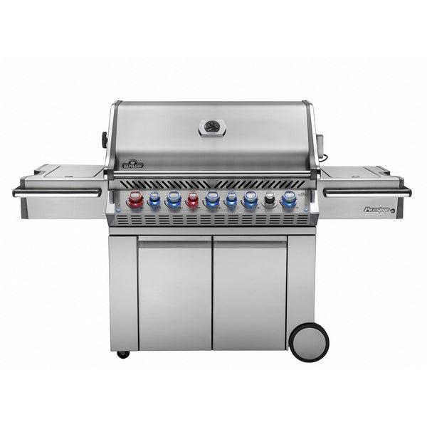 Napoleon Grill Prestige PRO 665 wih Infrared Rear and Side Burner Propane Gas- No Multi Color Lights (Limited Stock) - Bourlier's Barbecue and