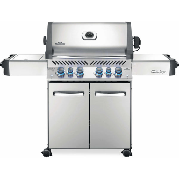 Napoleon Grills Prestige® 500 Propane Gas Grill with Infrared Side and Rear Burners, Stainless Steel - Bourlier's Barbecue and Fireplace