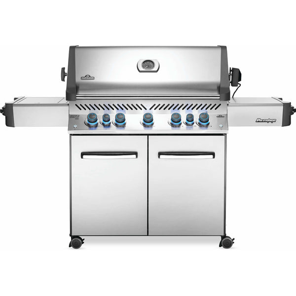 Napoleon Prestige® 665 Propane Gas Grill with Infrared Side and Rear Burners, Stainless Steel - Bourlier's Barbecue and Fireplace