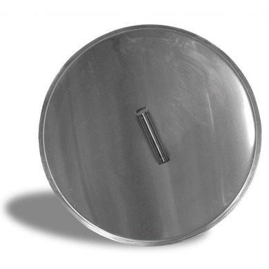 Replacement Firepit Stainless Steel Burner Cover with Brushed Finish, Round, 19-inch