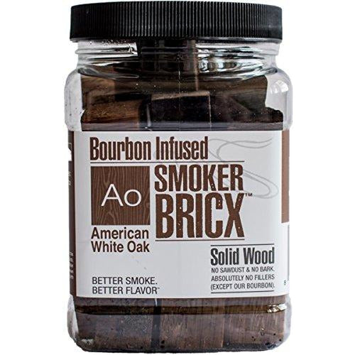 Smoker Bricx Bourbon Infused BBQ Smoking Chunks 32oz, 3 Pack - American Oak, Black Cherry, and Hickory
