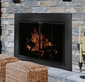Residential Retreat AB-1040 Ardmore Fireplace Bifold Smoked Glass Door - Black Finish (Small)