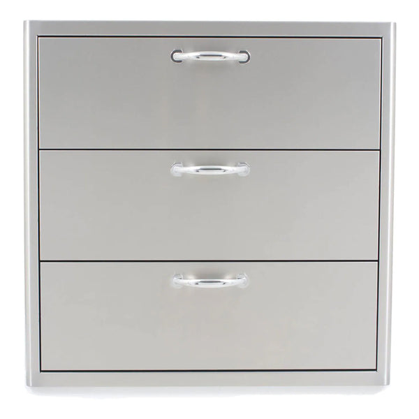 "Blaze Outdoor Products 30"" Stainless Steel Triple Access Drawer"