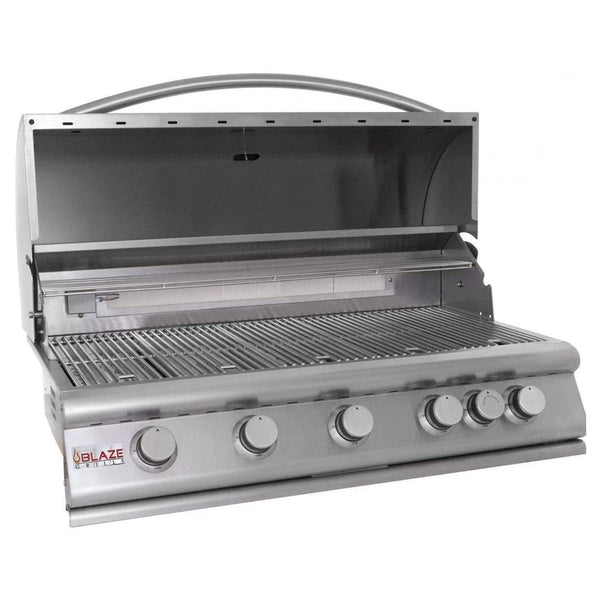 "Blaze Outdoor Products 40"" 5-Burner Built-In Natural Gas Grill with Rear Infrared Burner (HEAD ONLY)"