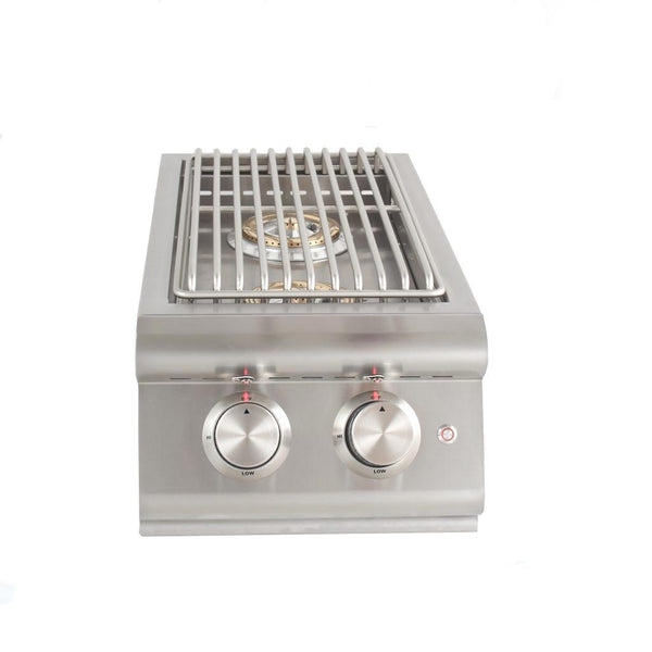 Blaze Outdoor Products Built-In LTE Double Side Burner with Lights (Natural Gas)