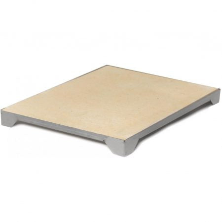 "Blaze Outdoor Products 14 3/4"" Ceramic Pizza Stone with Stainless Steel Tray"