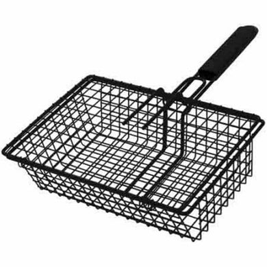 GrillPro 24080 Non-Stick Black Broiler Basket - Bourlier's Barbecue and Fireplace