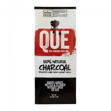 Que Coconut Charcoal 100% Natural Charcoal Briquettes from Coconut Shells 8.8 LB - Bourlier's Barbecue and Fireplace