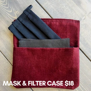 Reusable Mask & Filter Case