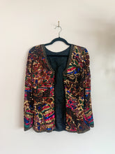 Load image into Gallery viewer, Vintage Sequin Jacket