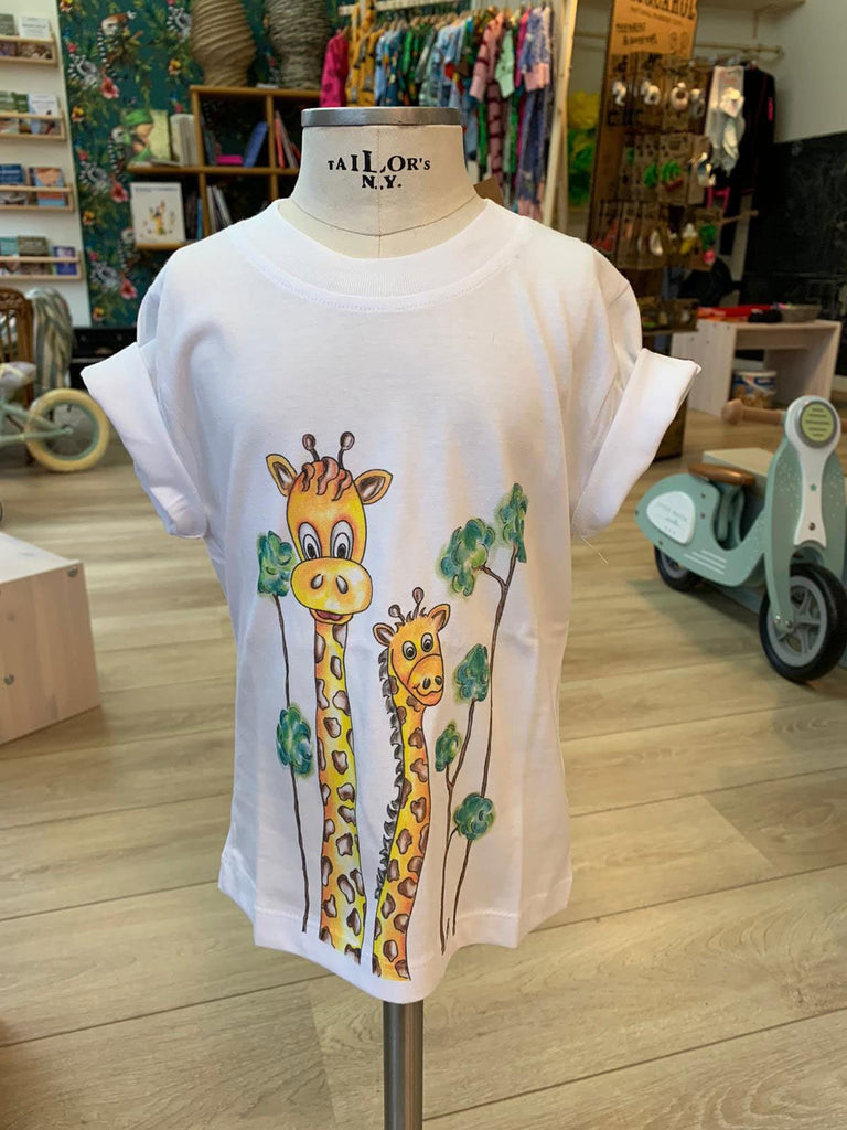 T-shirt in cotone Bio - Giraffa - Tabata Shop