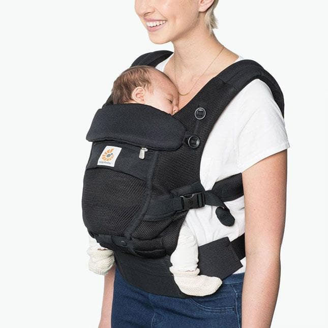 Ergobaby ADAPT AIR Onyx Black – Marsupio ergonomico Regolabile - Tabata Shop