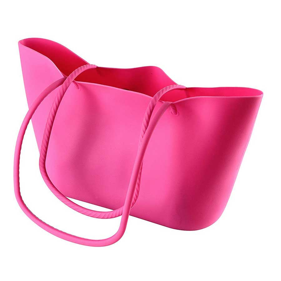 Borsa in Silicone Scrunch - Rosa - Tabata Shop