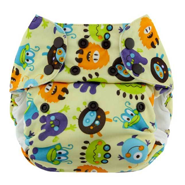Pannolino lavabile Blueberry One Size Bamboo Pocket - Monsters - Tabata Shop