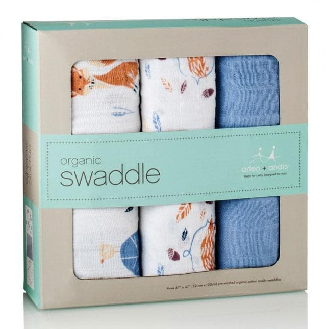 3 Copertine Swaddles Organic - Into the Woods Aden+Anais - Tabata Shop
