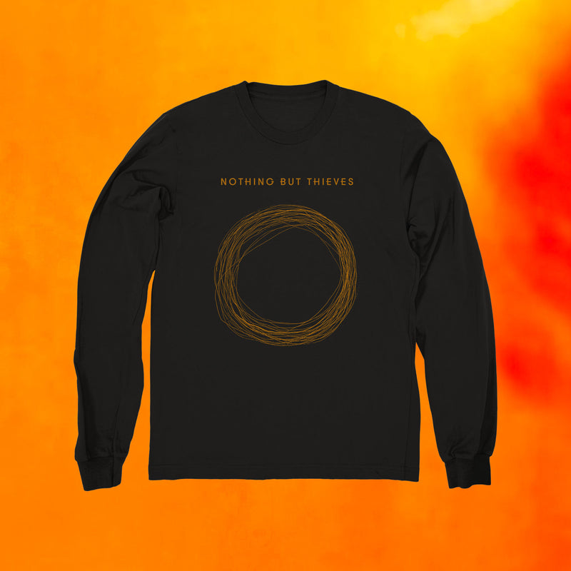 CIRCLE LONG SLEEVE T-SHIRT BLACK