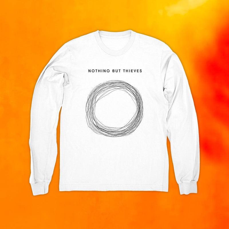 CIRCLE LONG SLEEVE WHITE T-SHIRT