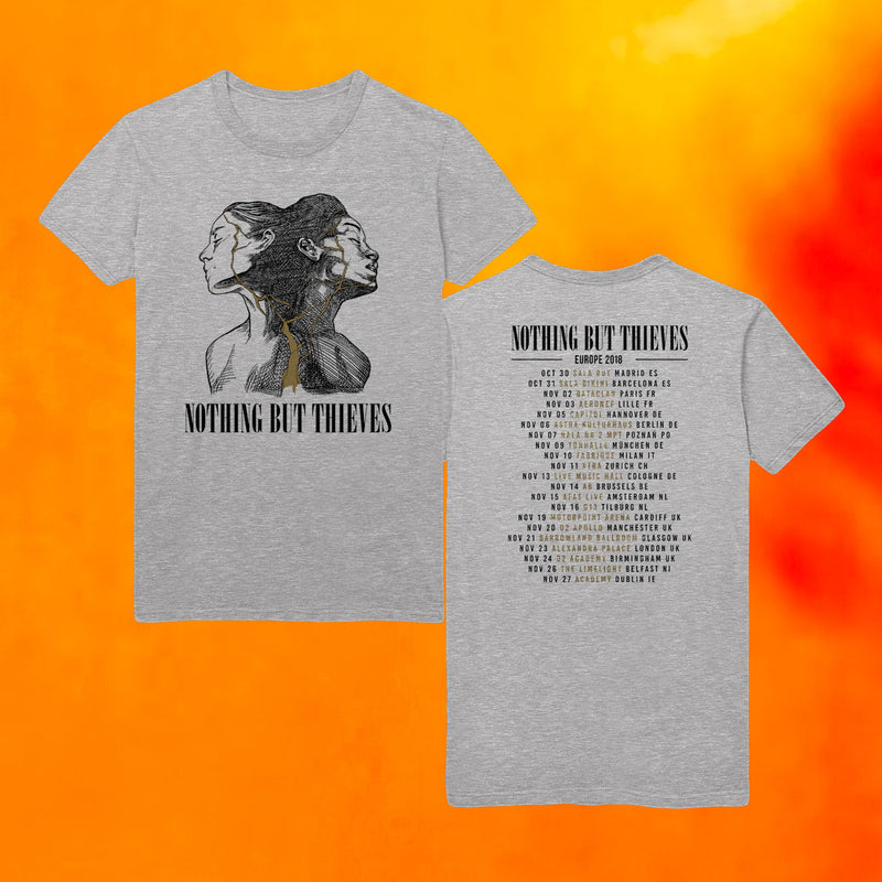 BROKEN MACHINE EUROPE 2018 TOUR GREY T-SHIRT
