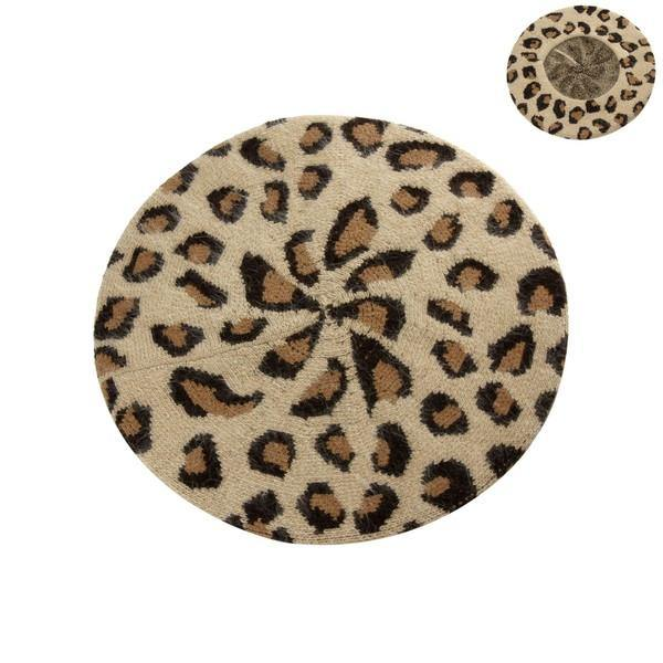 Misty Leopard Beret - The Catalina Rose