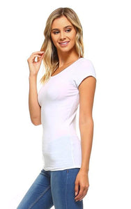 Mitzi Short Sleeve Cotton Top - The Catalina Rose