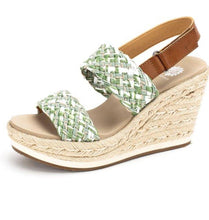 Load image into Gallery viewer, Arula Espadrille Wedge Sandals - The Catalina Rose