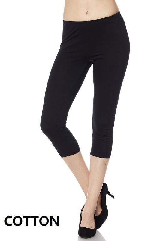 Remi Cotton Capri Leggings - The Catalina Rose
