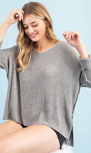 Crystal Open Weave Knit Sweater - The Catalina Rose
