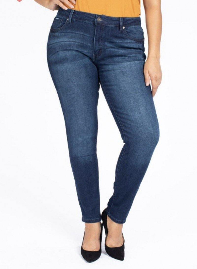 Darla Glam Plus Midrise Super Skinny Jeans - The Catalina Rose