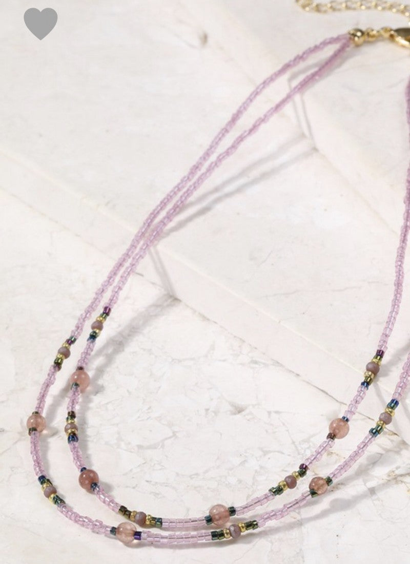 Dixie Lavender Layered Necklace