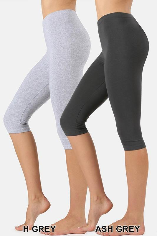 Skye Cotton Capri Leggings - The Catalina Rose