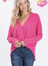 Load image into Gallery viewer, Izzy Glam Plus Polka Dot Top - The Catalina Rose