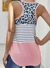 Load image into Gallery viewer, Evie Leopard Stripe Casual Top - The Catalina Rose