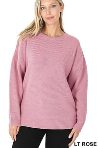 Emma Round-neck Basic Sweater - The Catalina Rose