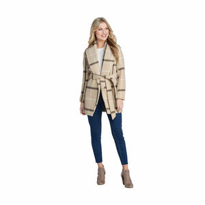 Winchester Tan Plaid Coat - The Catalina Rose