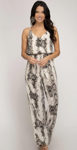 Bailey Snake Skin Jumpsuit - The Catalina Rose
