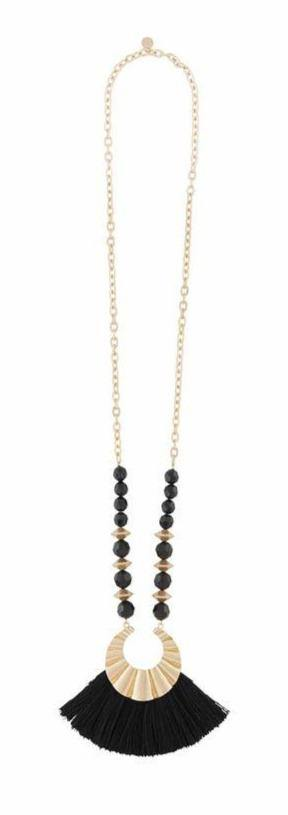 Beaded Tassel Necklace - The Catalina Rose