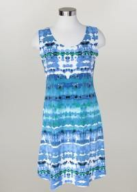 Kali Tie-Dyed Sleeveless Dress - The Catalina Rose