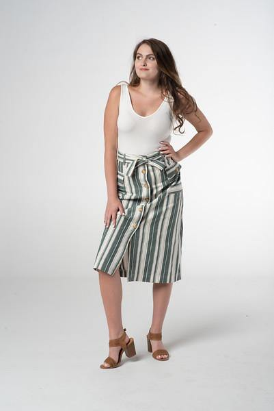 Rossi Striped Skirt - The Catalina Rose
