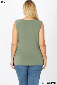 Frankie Knotted Sleeveless Top - The Catalina Rose