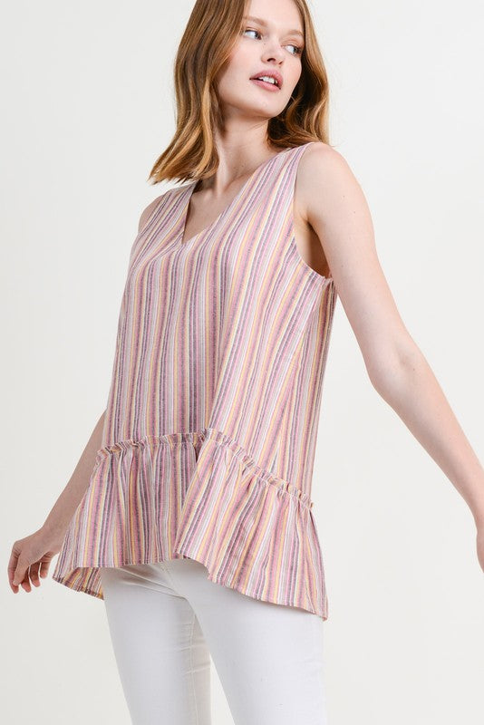 Ashton Ruffled Hem Top