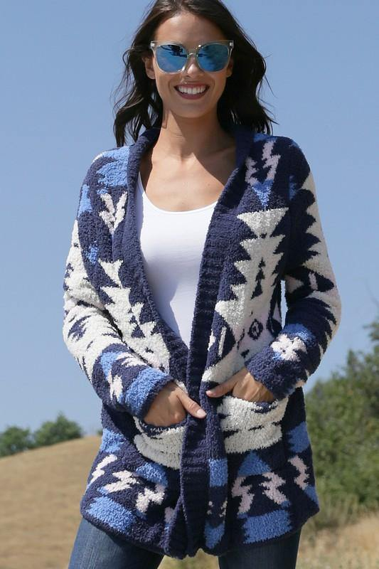 Lexie Aztec Pattern Cardigan - The Catalina Rose
