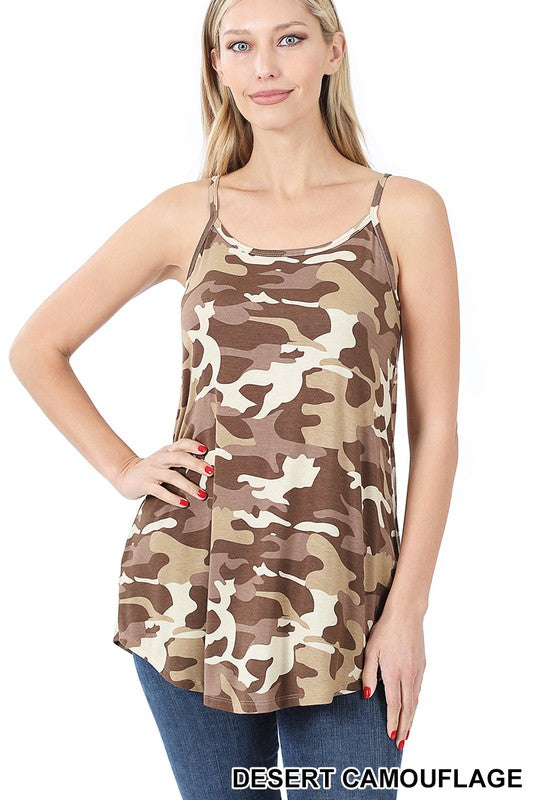Jet Camo Reversible Cami Top