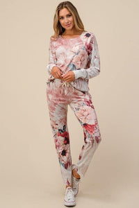 Felicia Floral Loungewear Bottom - The Catalina Rose