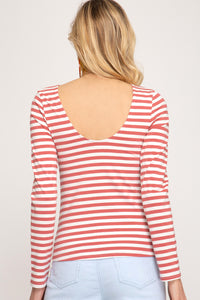 Gretel Back Scoop Top