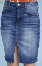 Load image into Gallery viewer, Dylan Denim Pencil Skirt - The Catalina Rose
